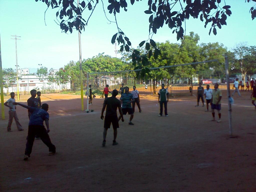 Volley ball in nehru stadium coimbatore