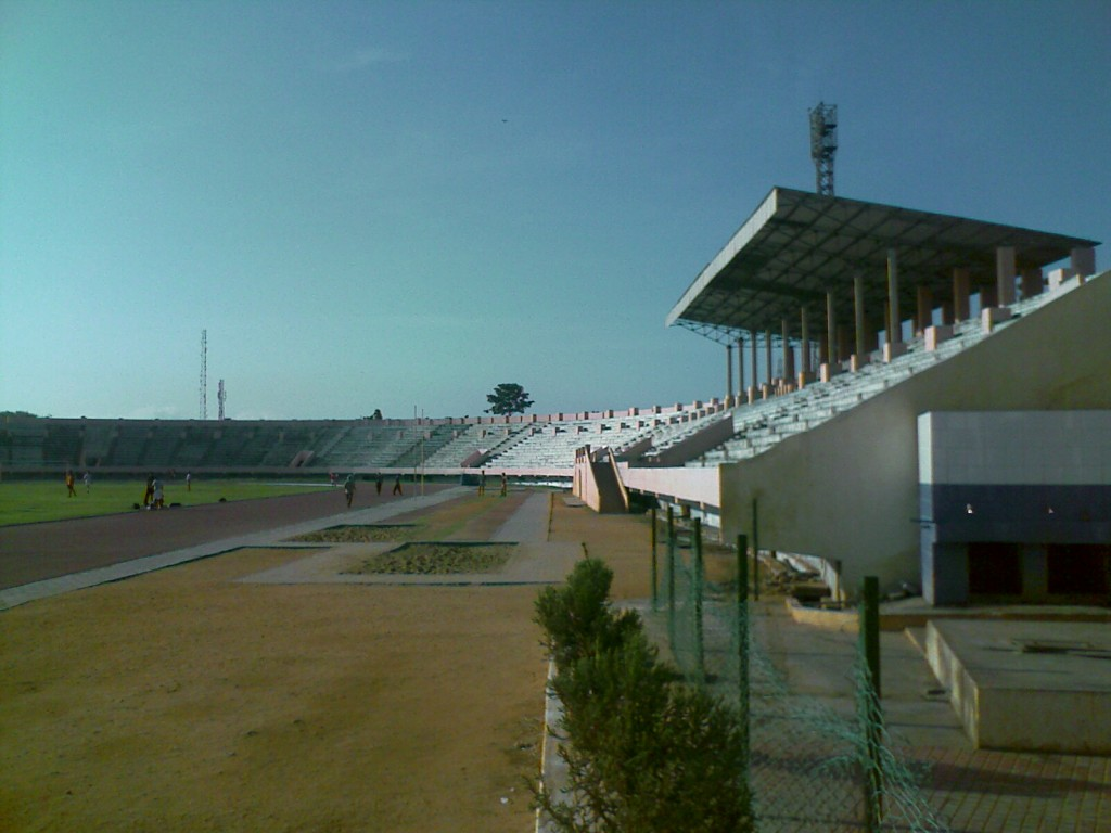 Nehru Stadium Inside view - seating from a distance