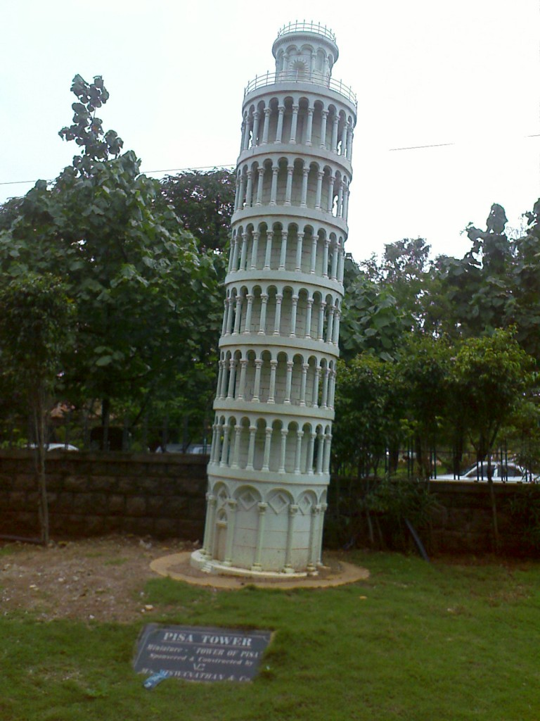 Miniature Model of Leaning Tower of Pisa
