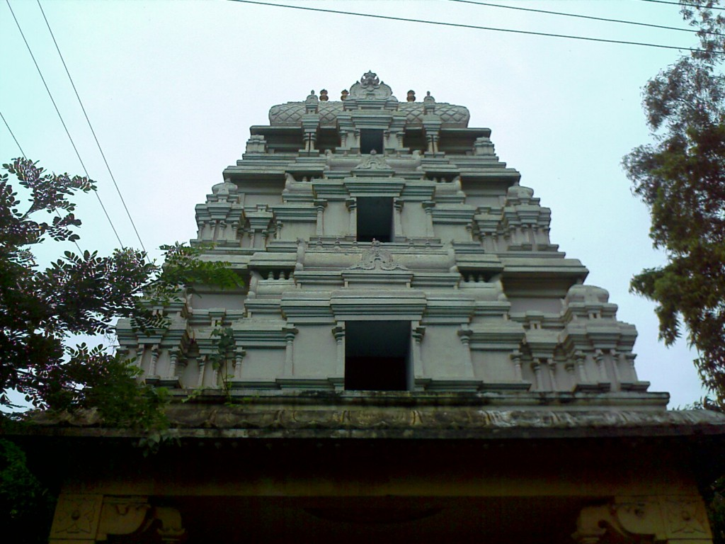 a small temple gopuram
