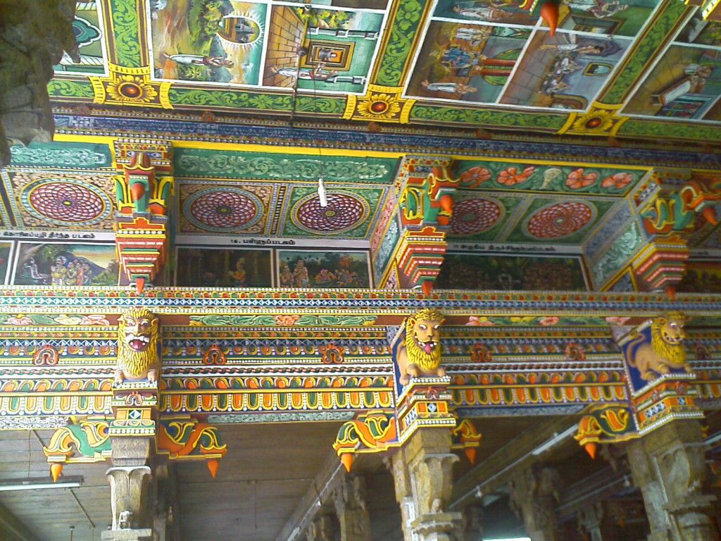 Decorative Pillars in Perur Patteeswarar Temple Coimbatore
