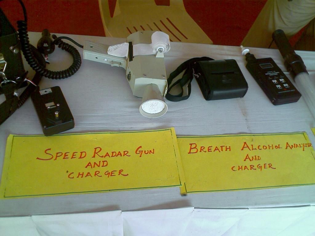 Photo of Speed Alcohol Gun and Breath alcohol analyzer