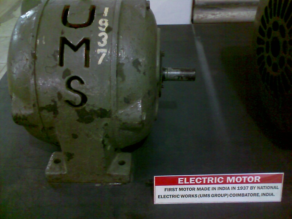 First Electric Motor made in India by GD Naidu's Universal Motor Service kept at GD Naidu Museum Coimbatore