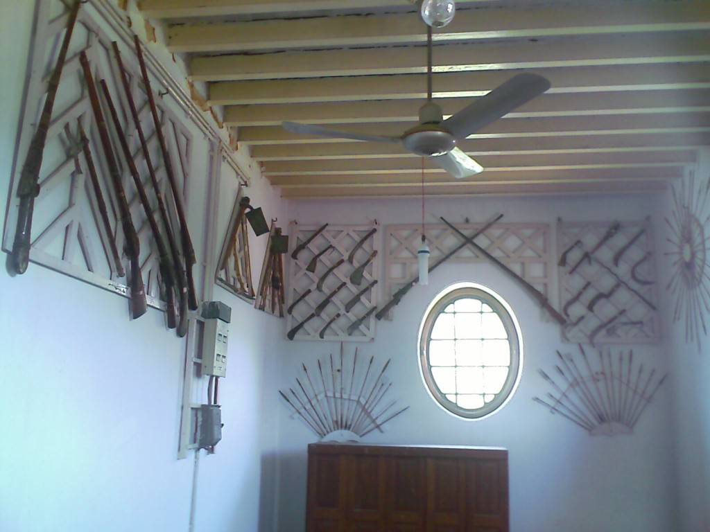 weapons used to hunt on display at the gass forest museum coimbatore