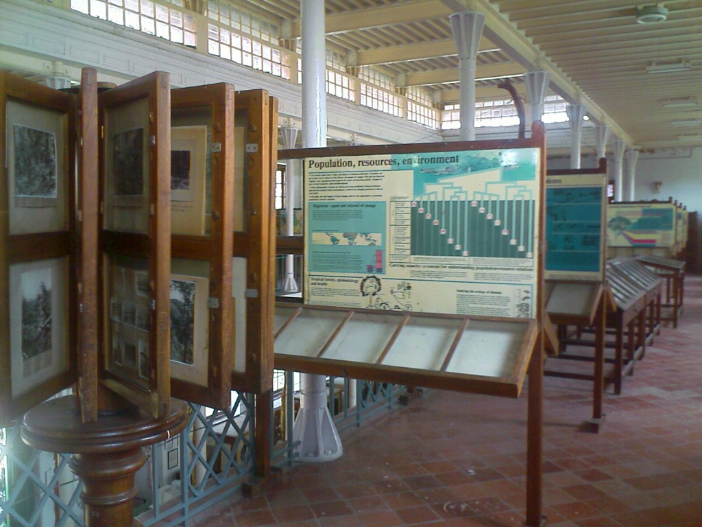 posters in h a gass forest college museum coimbatore