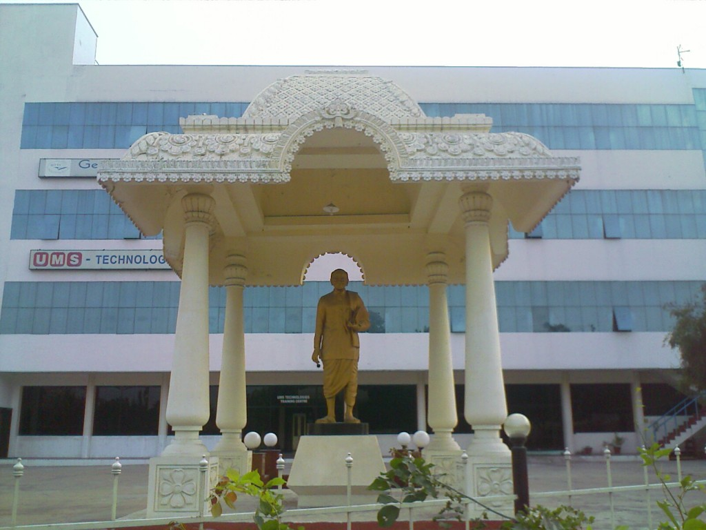 Statue of G D Naidu outside the GD Naidu Museum and Industrial exhibition in Coimbatore