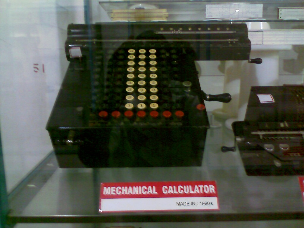 A mechanical calculator kept at the G D Naidu Museum and Industrial exhibition in coimbatore