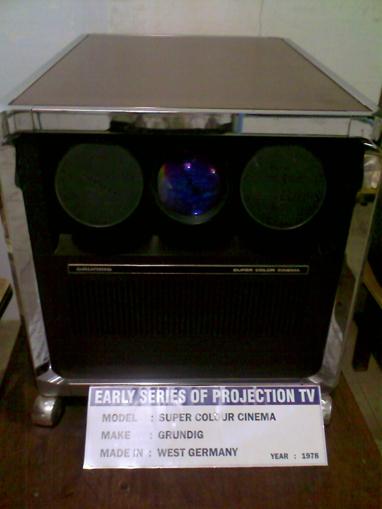An early projection TV kept at the GD Naidu Museum and industrial exhibition in Coimbatore