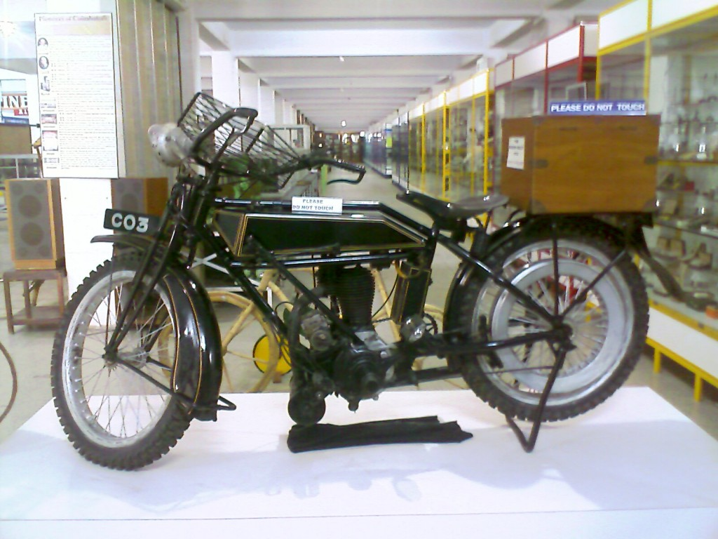 Picture of Motor Bike used by G D Naidu kept in G D Naidu Museum and Industrial Exhibition Coimbatore