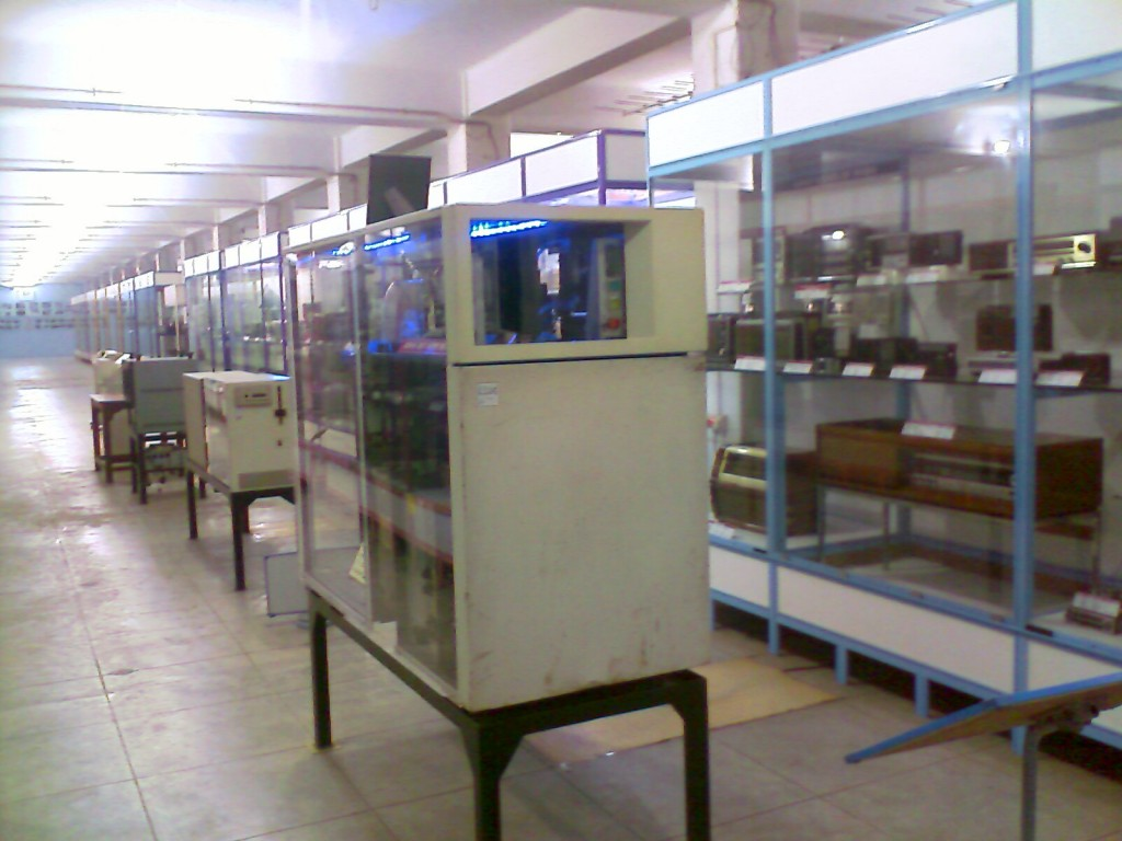 Exhibits kept in rows in G D Naidu museum coimbatore