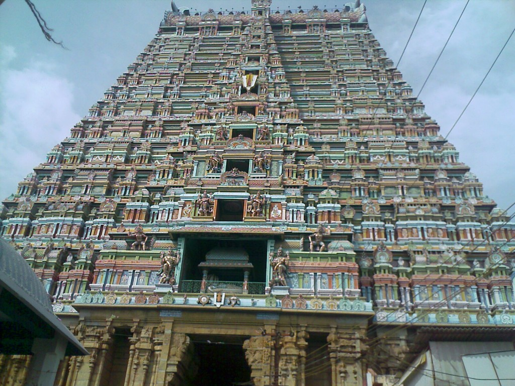Srirangam Ranganathaswamy temple gopuram photo