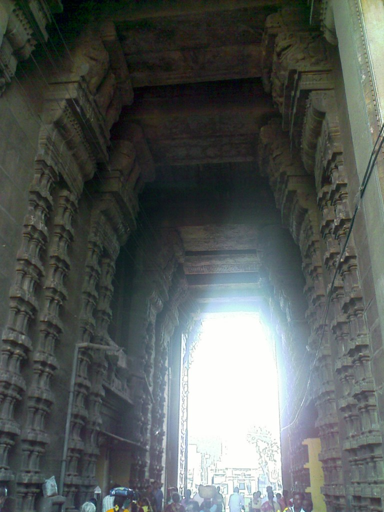 Inside the main gopuram of Sri ranganathaswami temple at srirangam trichy