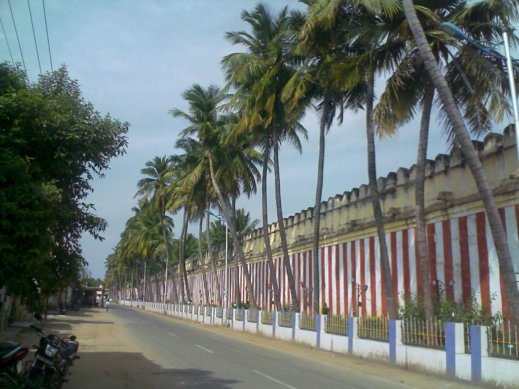 compound wall of srirangam temple in trichy