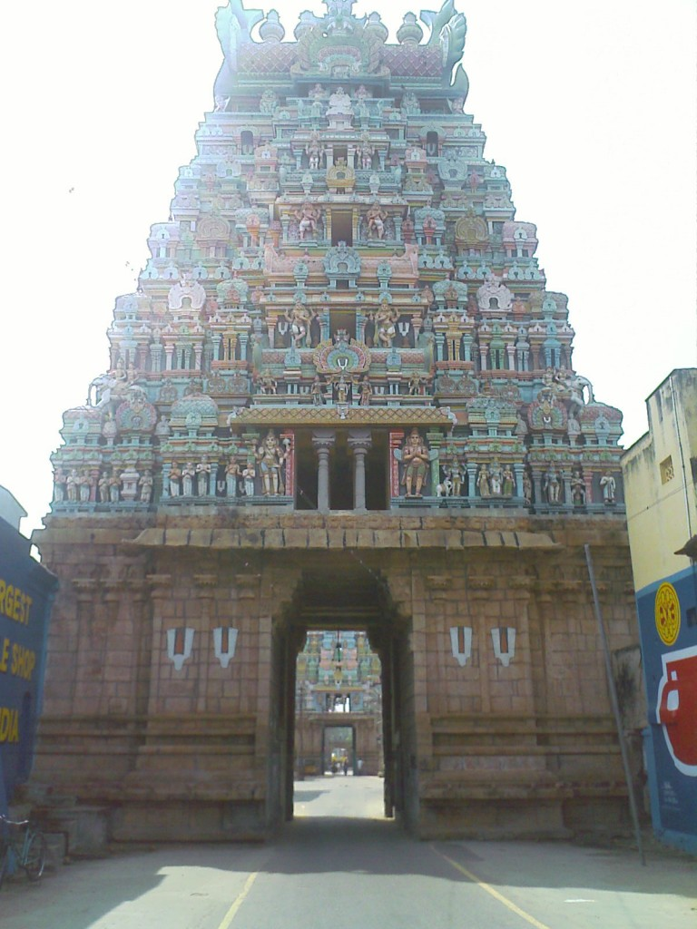 en route to trichy srirangam temple smaller gopurams