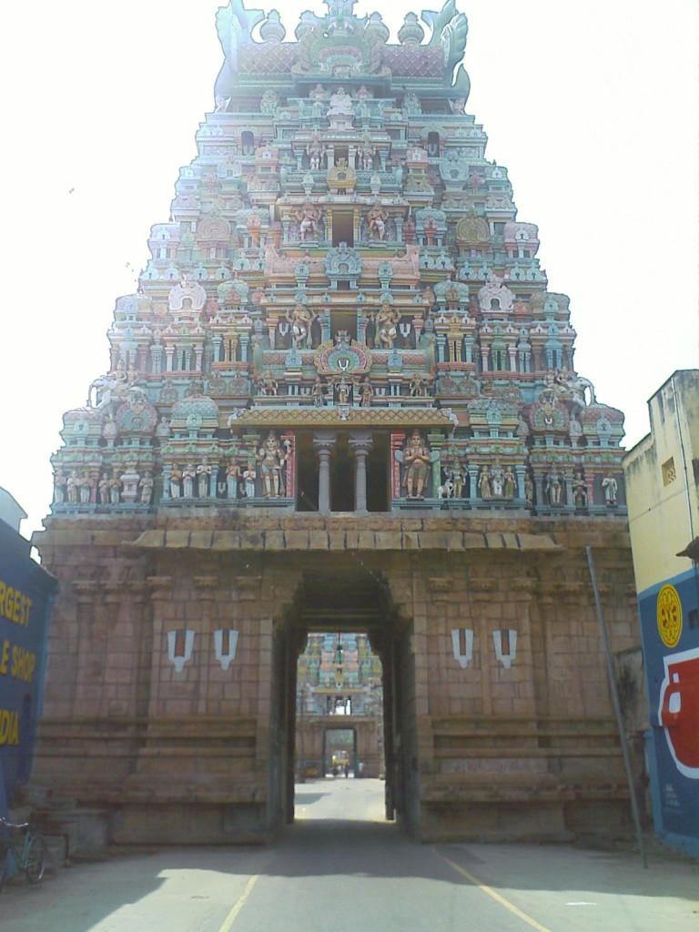 en route to trichy srirangam temple smaller gopurams