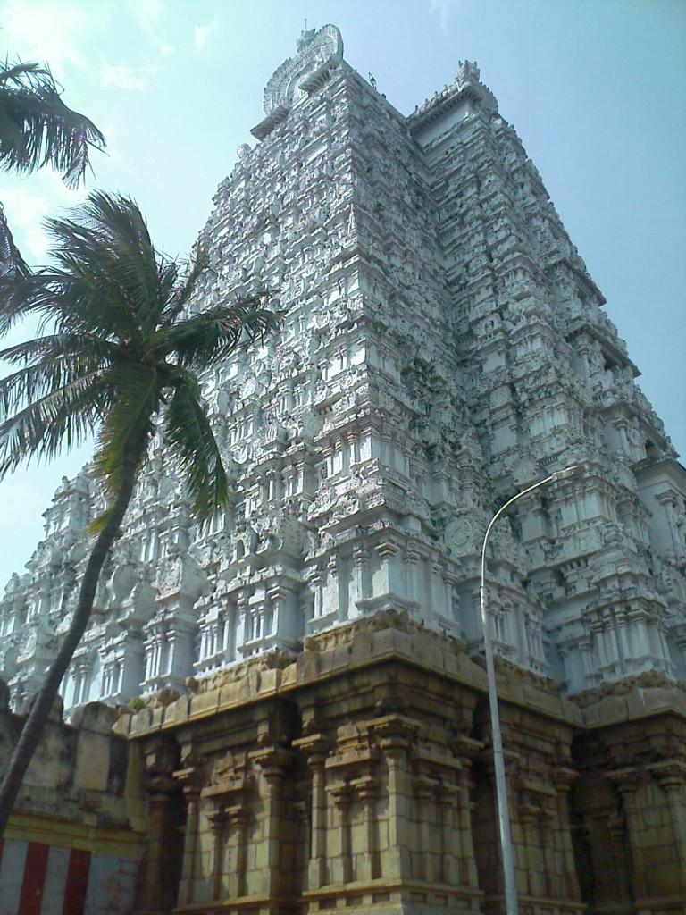 tiruchirappalli srirangam temple back side gopuram