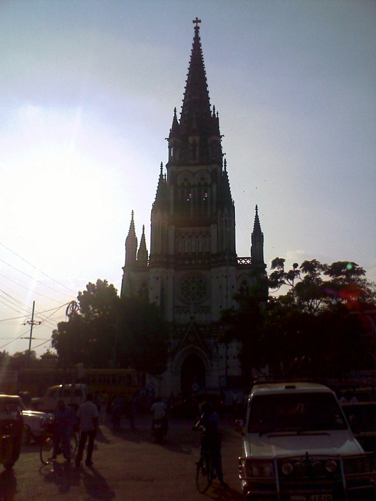 church opposite to rockfort, malakkotai in Trichy
