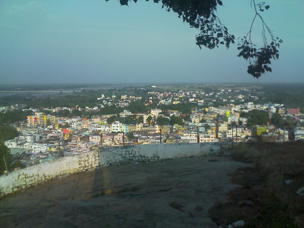 view of trichy city and kaveri river from the top of malakkottai