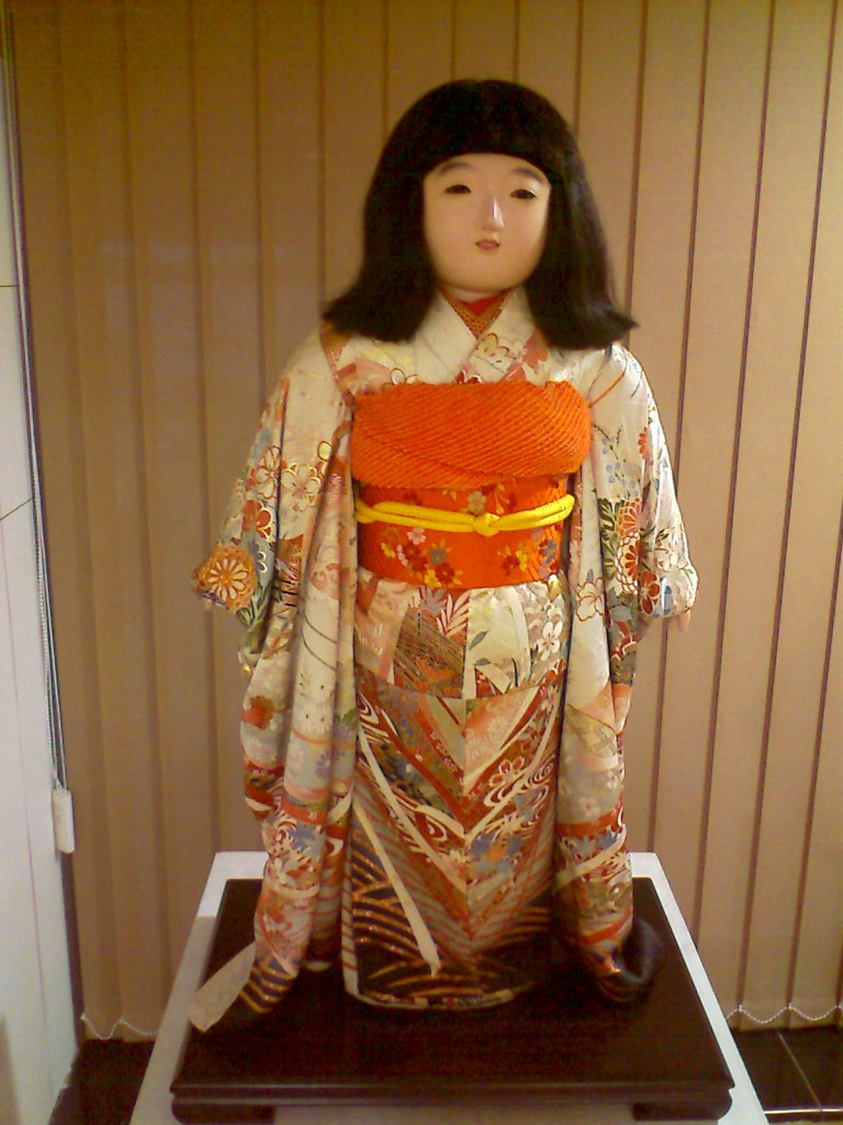 A photo of the doll representing Japanese Girl in Traditional costumes