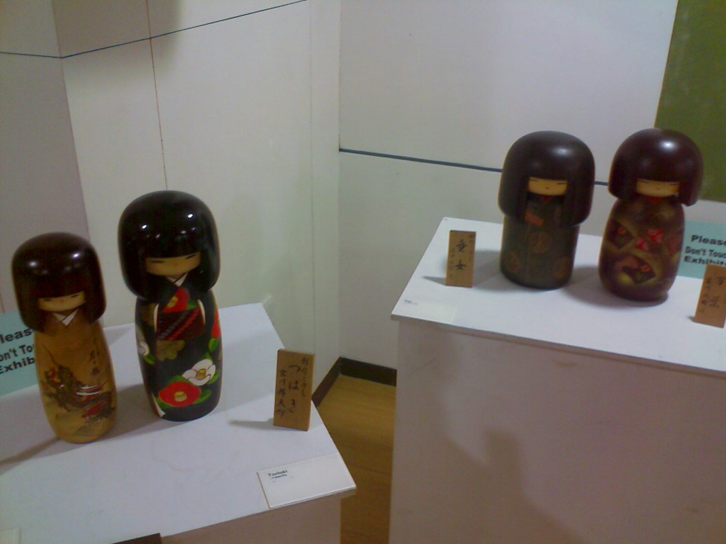 Wooden dolls of Japanese Kids
