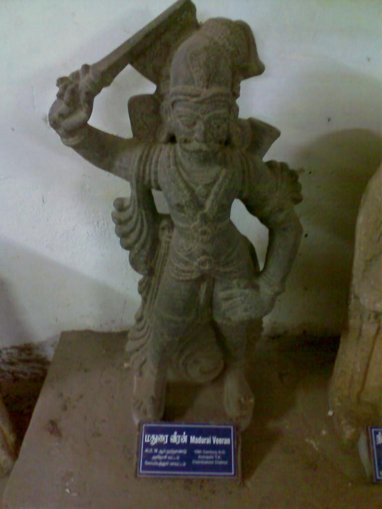 madurai veeran statue in coimbatore govt museum near voc park