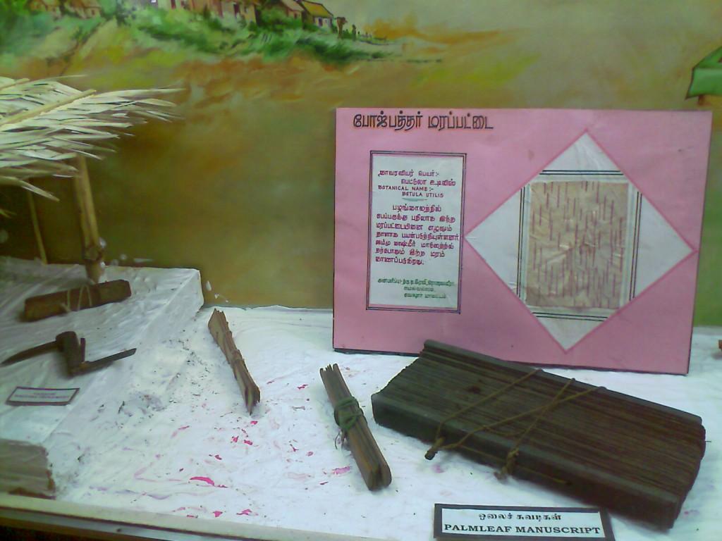 palm leaf manuscript - oolai chuvadi - govt museum coimbatore