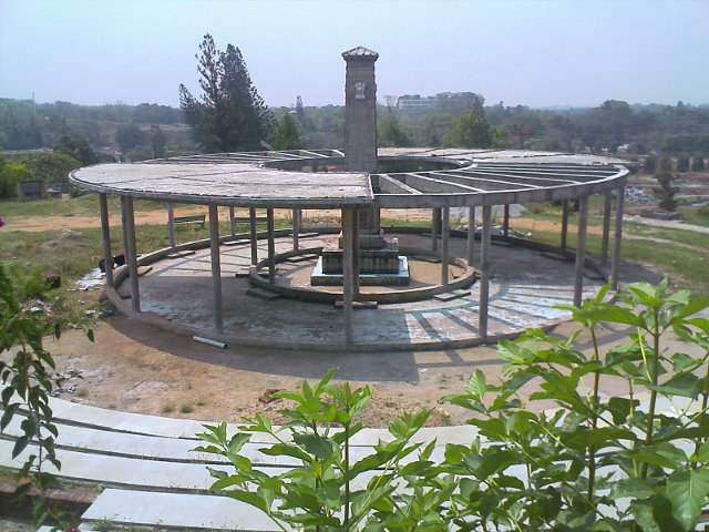 malampuzha gardens in palakkad - four lions ashoka pillar under construction