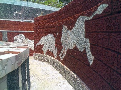 rock gardens palakkad - lion and elephant paintings - modern art