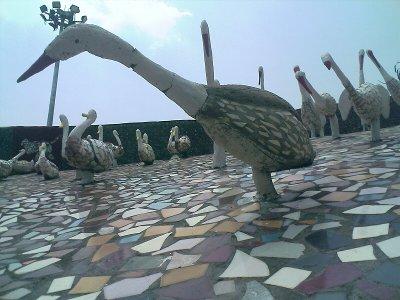 rock gardens palakkad - bird statues - modern art