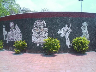 rock gardens palakkad kathakkali and karali paintings - modern art