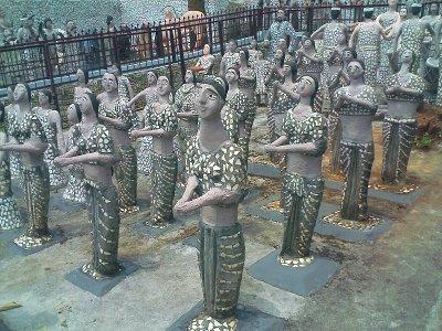 rock gardens palakkad statues of people - modern art