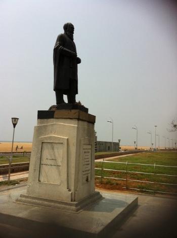 G U Pope statue in Marina beach Chennai