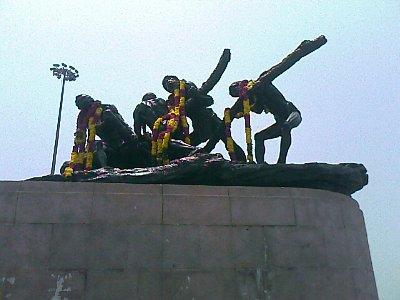 Labour statue in Marina beach