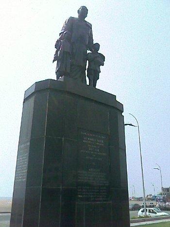 Statue in marina beach Chennai