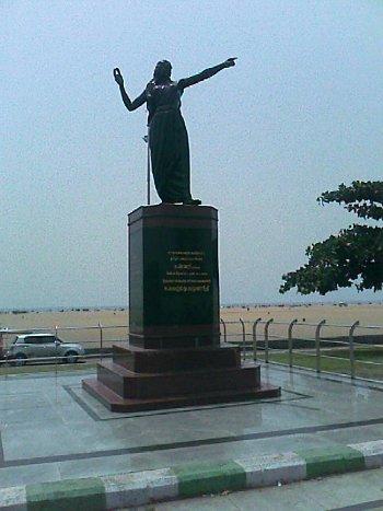Kannagi Statue in Marina Beach, Chennai