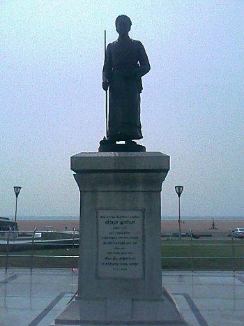 Veeramamuniver statue in marina beach chennai