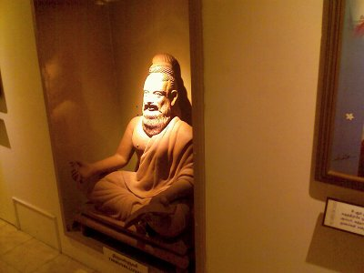 Tiruvalluvar statue in the Vivekananda house in Chennai