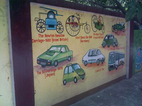 different types of early cars - b m birla planetarium chennai