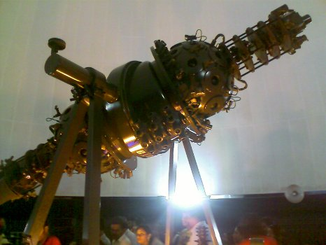 planetarium projector - close up view