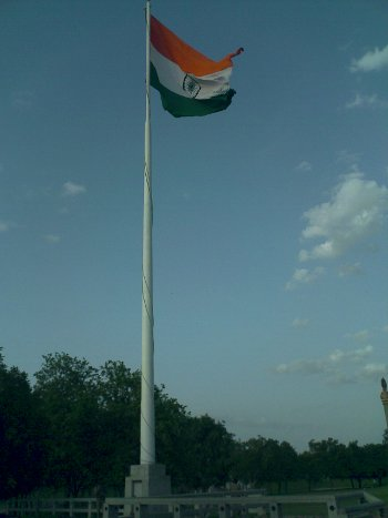 Indian flag at the Rajiv Gandhi Memorial, Sriperumbudur Chennai