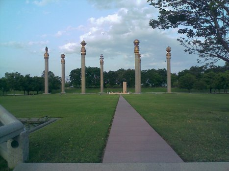 Rajiv Gandhi Memorial Ninaivagam Pillars in Sriperumbudur