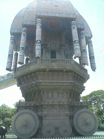 Stone Chariot in Valluvar Kottam monument in Chennai