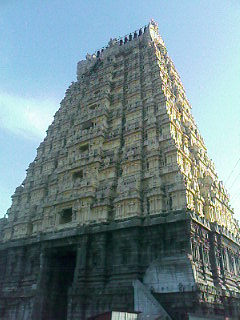 Ekambaranadar Temple Gopuram in Kanchipuram
