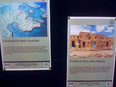 World heritage monuments photos at the fort museum - world heritage week 2011