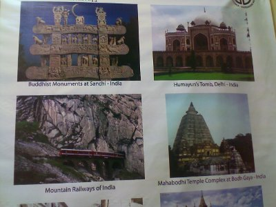 Some world heritage monuments in India at the Fort Museum Chennai - World Heritage Week