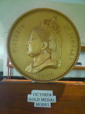 victoria gold medal in fort museum chennai