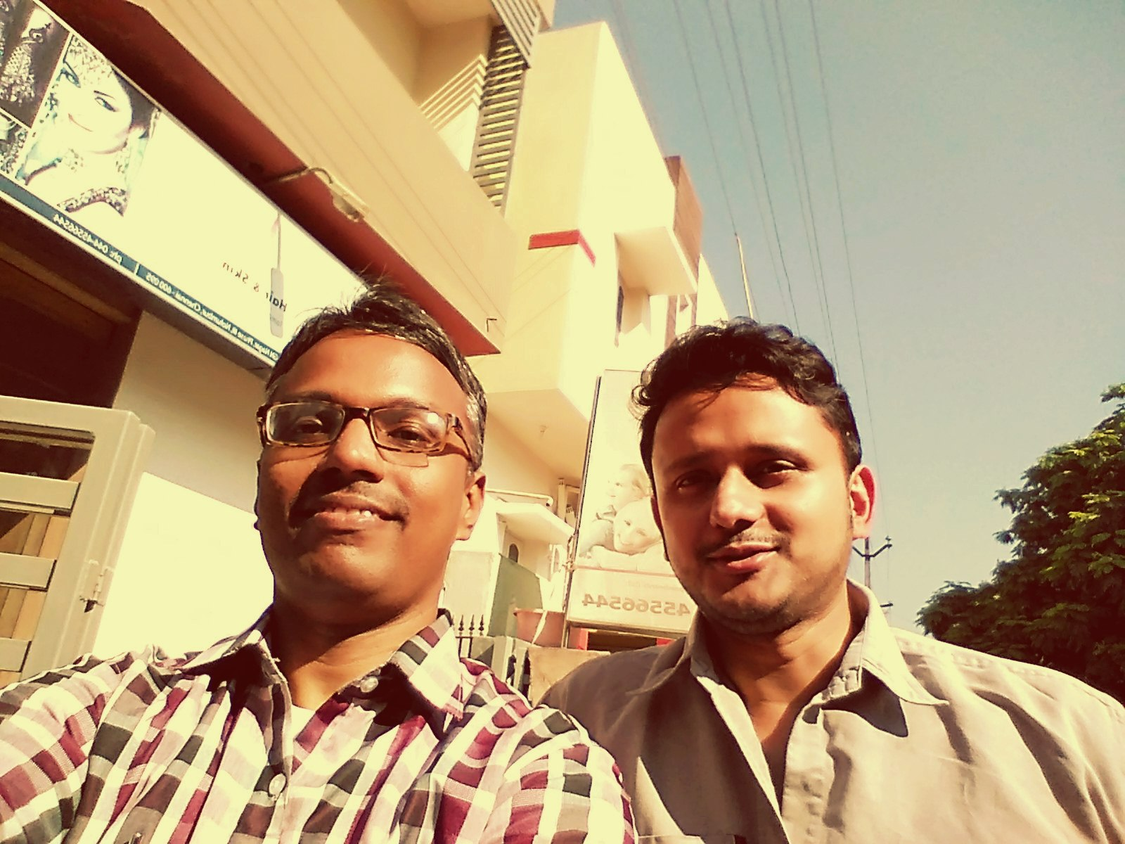 Me and my college batchmate!